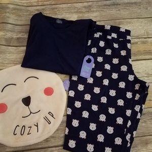 Wonen's XL  2-piece Bear Pajama